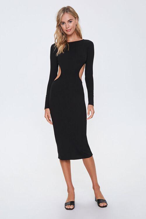Open-Back Bodycon Midi Dress, image 3