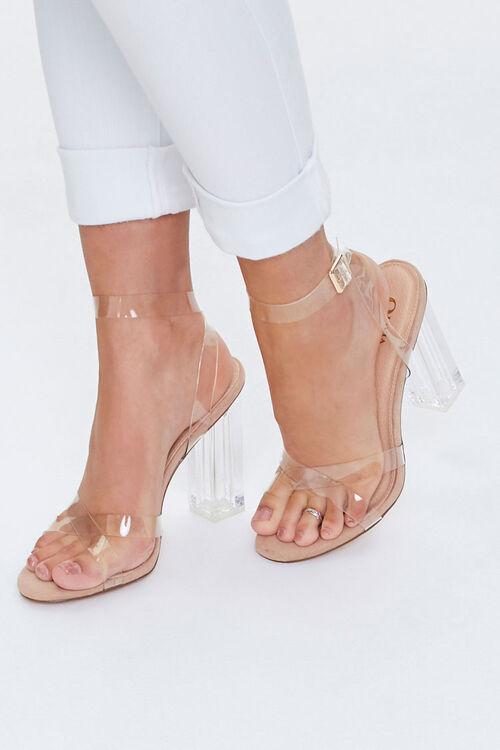 Vinyl Ankle-Strap Heels, image 1