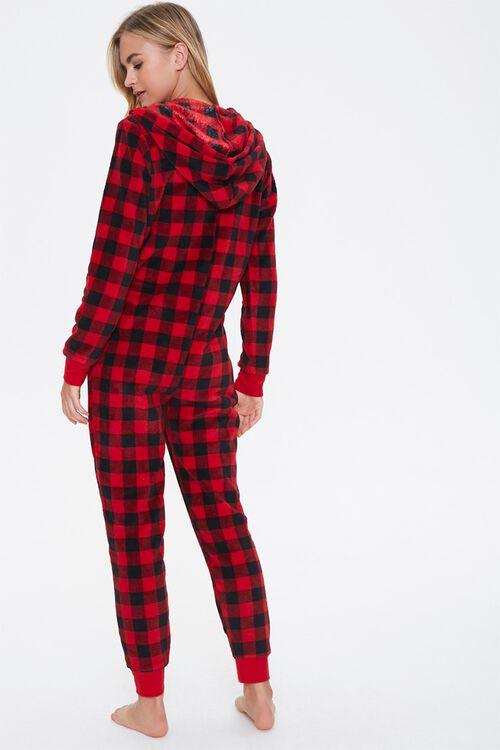 Plaid Hooded Pajama Jumpsuit, image 3