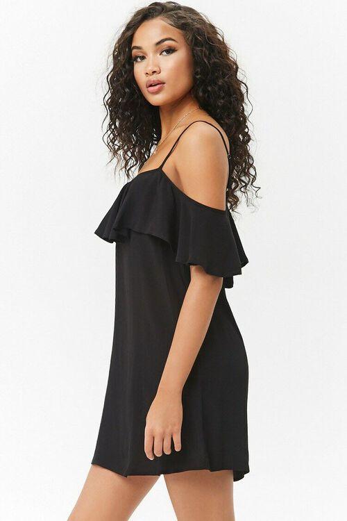 Open-Shoulder Flounce Dress, image 2