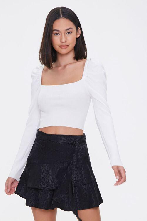Jacquard Leopard Print Skirt, image 1