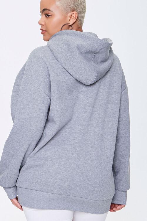 Plus Size Fleece Drawstring Hoodie, image 3