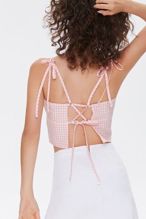 Gingham Lace-Up Cami, image 3
