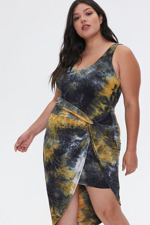 Plus Size Tie-Dye Tulip Dress, image 4
