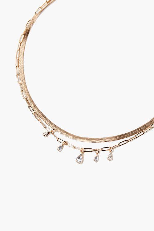Faux Gem Layered Necklace, image 1