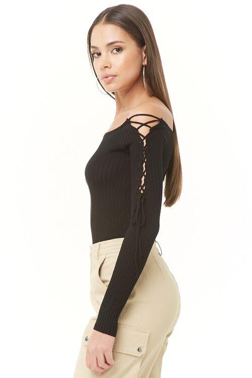 Ribbed Off-The-Shoulder Bodysuit, image 3