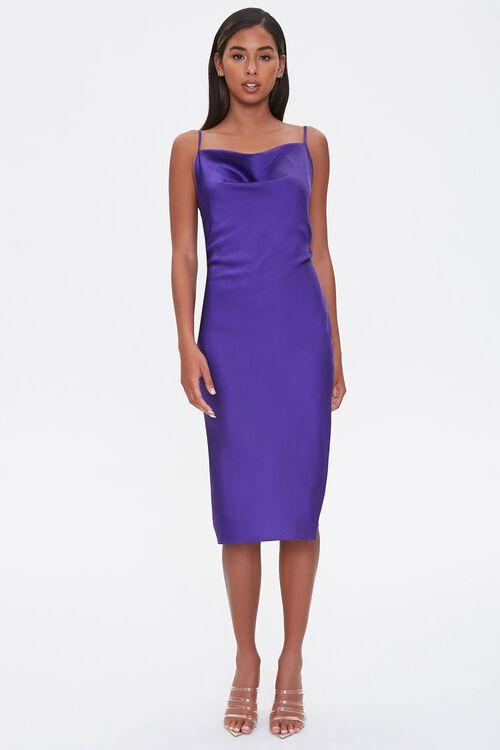 Satin Cowl Slip Dress, image 4