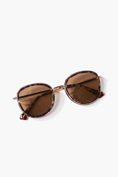 Tortoiseshell Round Metal Sunglasses, image 4