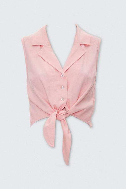 Self-Tie Cropped Shirt, image 4