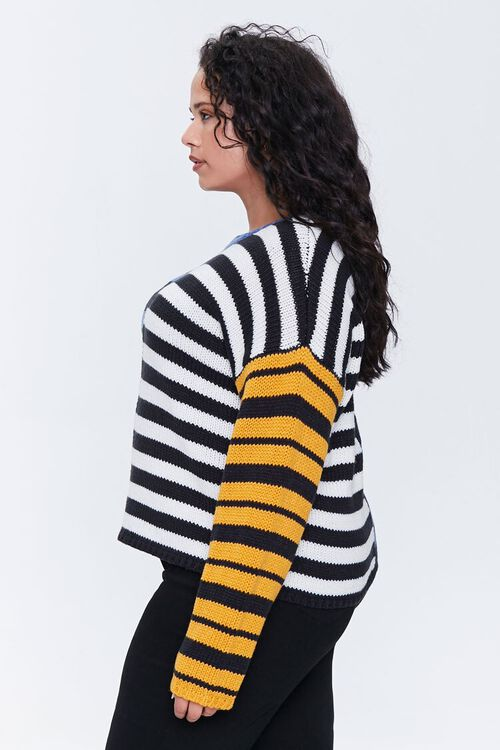 Plus Size Reworked Striped Sweater, image 2