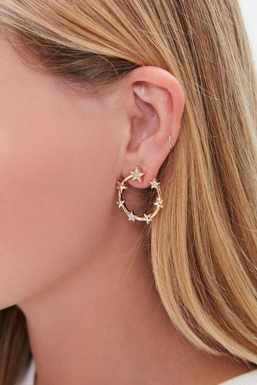 Star Charm Hoop Earrings, image 1