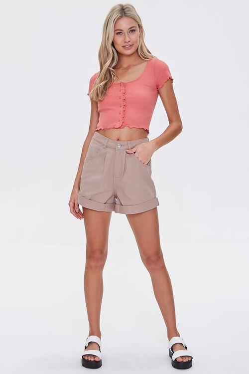 Cuffed Denim Shorts, image 5