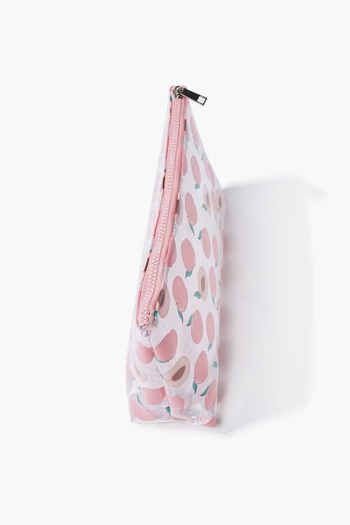 Peach Print Zippered Pouch, image 2