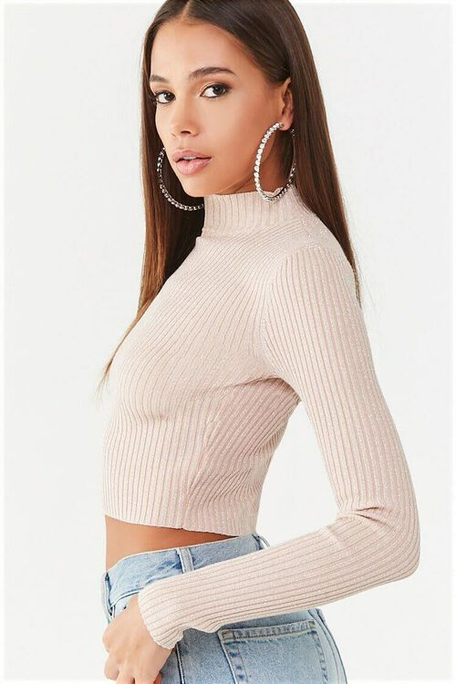 Metallic Ribbed Sweater, image 2