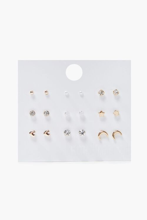 SILVER Assorted Stud Earring Set, image 1