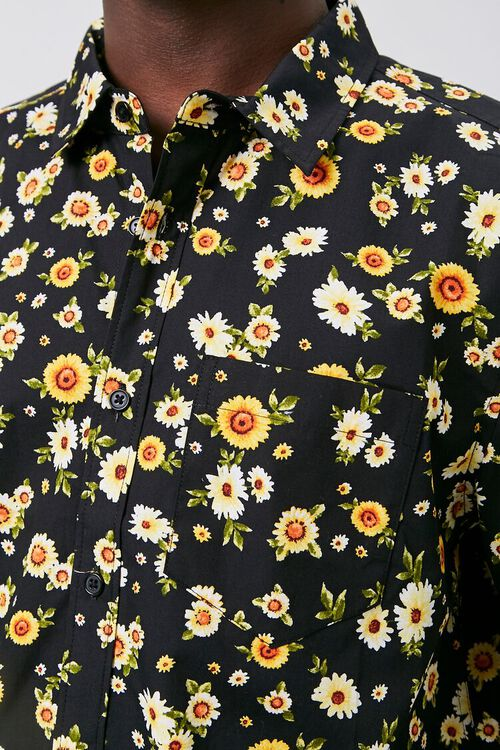 Fitted Daisy Print Shirt, image 5