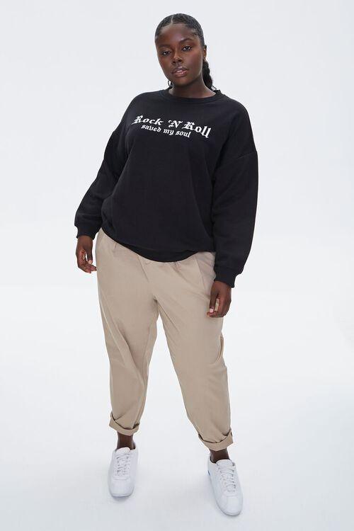 Plus Size Rock N Roll Sweatshirt, image 5