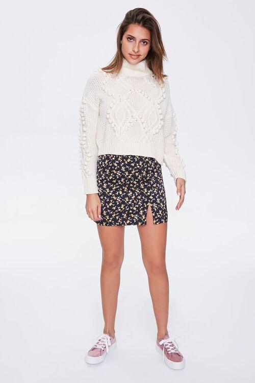 Satin Floral Mini Skirt, image 4