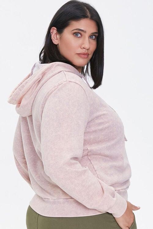 LAVENDER/MULTI Plus Size Floral Graphic Hoodie, image 2