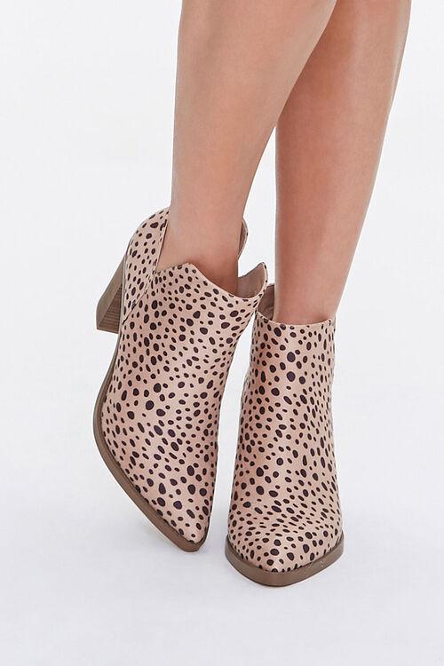 Cheetah Stacked Heel Booties, image 4