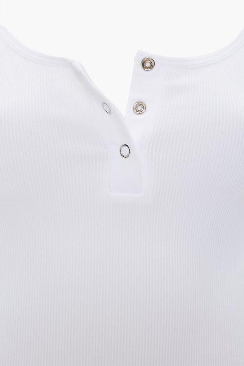 WHITE Seamless Cami Thong Bodysuit, image 4