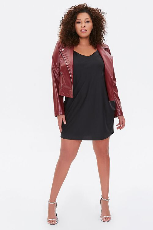 Plus Size Vented Moto Jacket, image 4