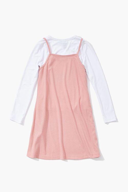 MAUVE/WHITE Girls A-Line Combo Dress (Kids), image 2