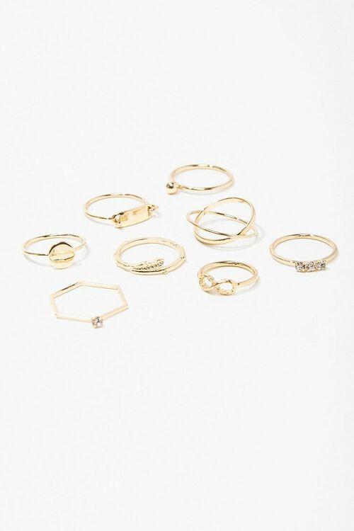 Assorted Midi & Regular Rings Set, image 1
