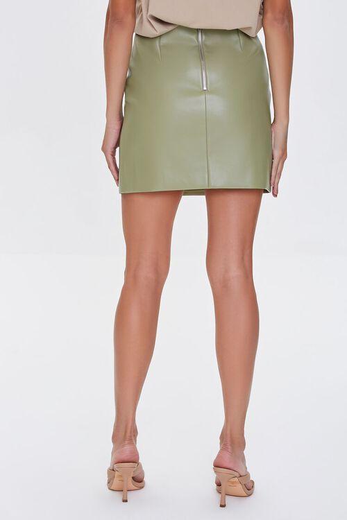 Faux Leather Mini Skirt, image 4