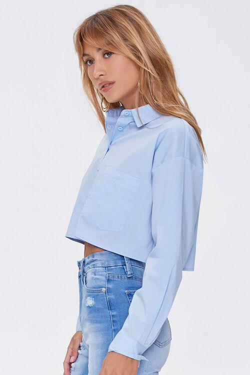 Cropped Button-Front Shirt, image 2