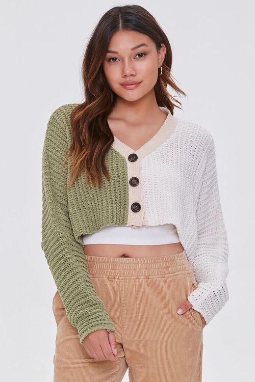Colorblock Cardigan Sweater, image 1