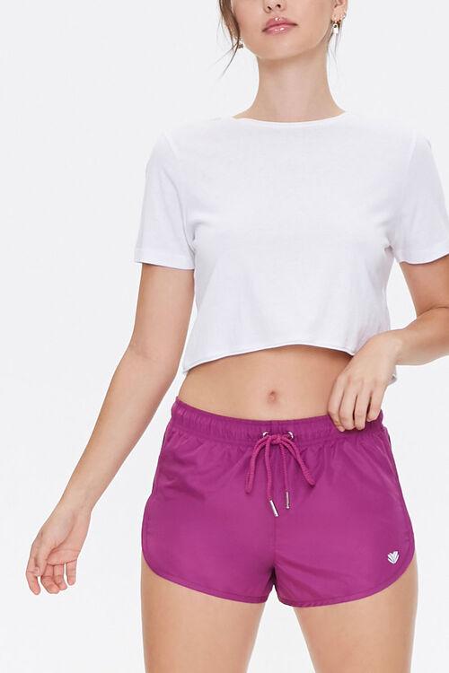 Active Sheer Mesh-Trim Shorts, image 1