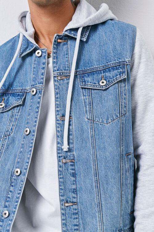 Combo Hooded Denim Jacket, image 5