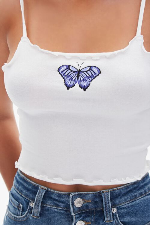 Butterfly Patch Cropped Cami, image 5