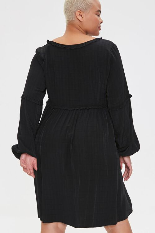 Plus Size Ruffled Knee-Length Dress, image 3