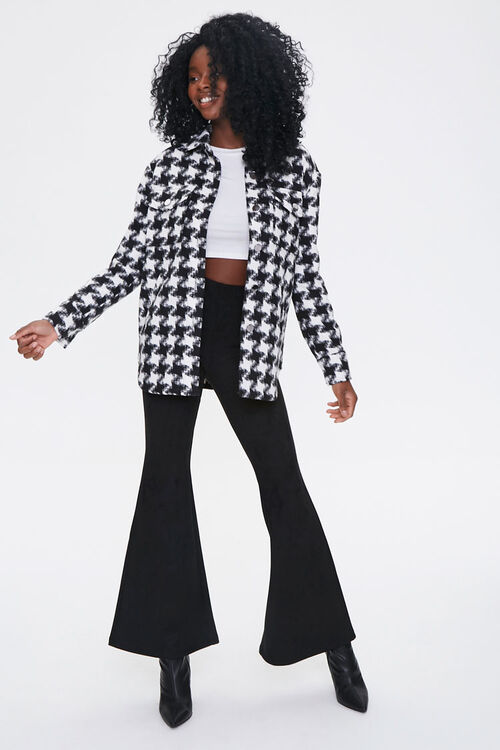 Houndstooth Button-Front Jacket, image 4