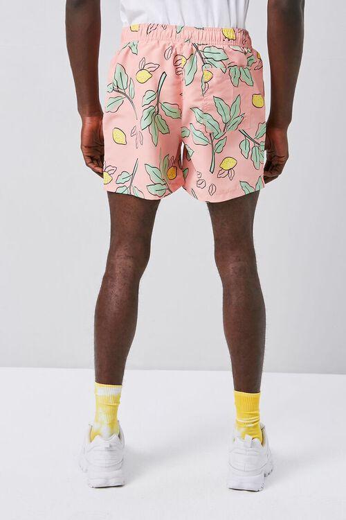 Lemon & Leaf Print Swim Trunks, image 5