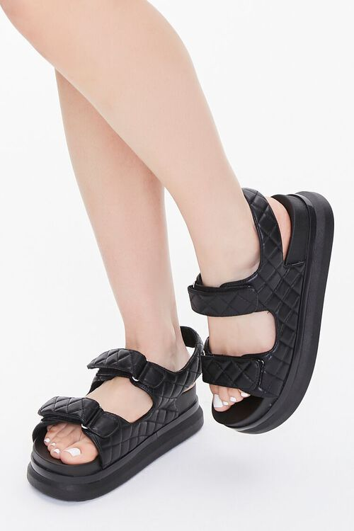 Buckled Quilted Wedges, image 1