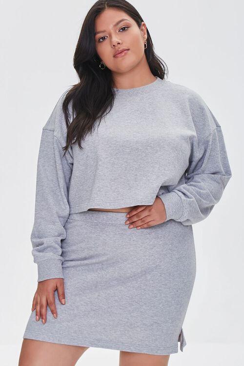 Plus Size Bodycon Mini Skirt, image 1