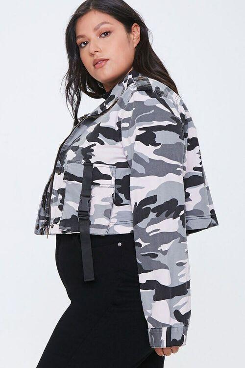Plus Size Camo Print Jacket, image 2