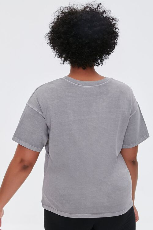 TAUPE/MULTI Plus Size No Signal Graphic Tee, image 3