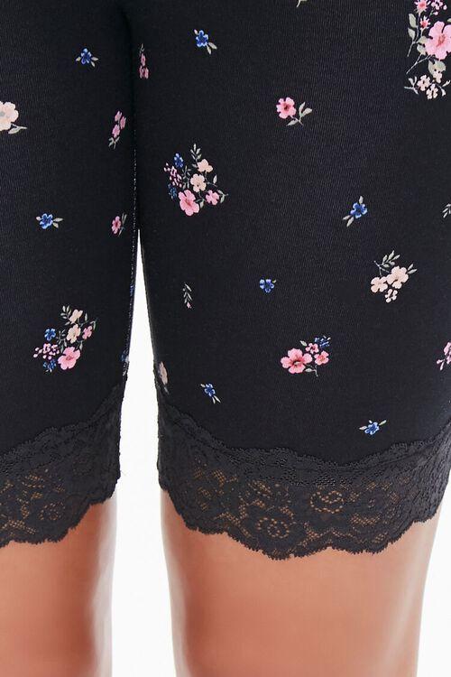 Floral Print Biker Shorts, image 6