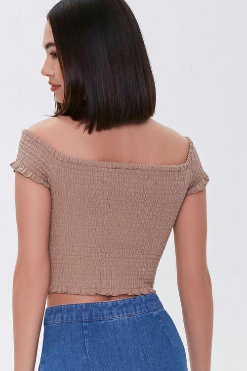 Smocked Off-the-Shoulder Crop Top, image 3