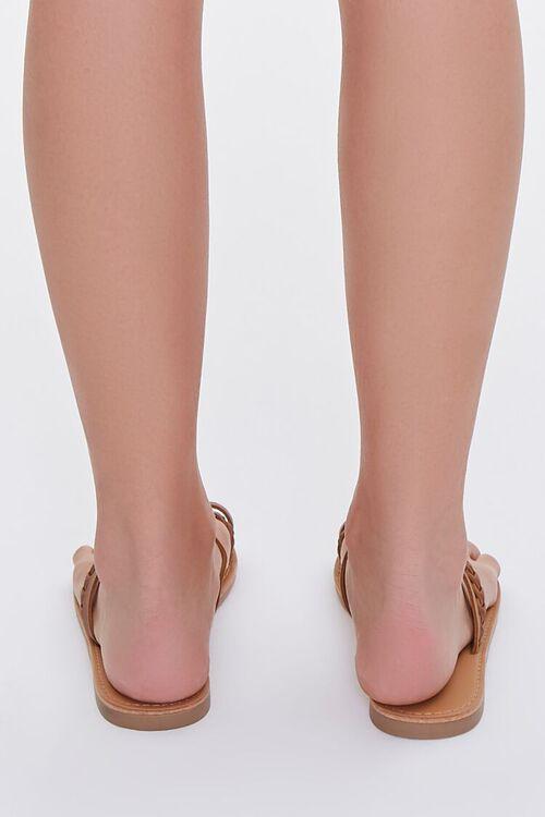 BROWN Braided Toe Loop Sandals, image 3