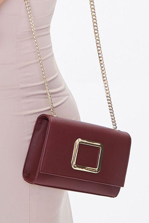 BURGUNDY Flap-Top Crossbody Bag, image 2