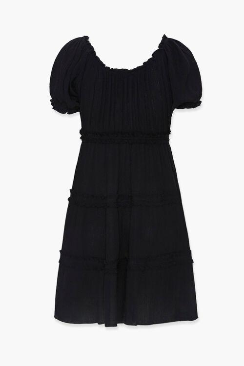 Tiered Ruffle-Trim Mini Dress, image 2