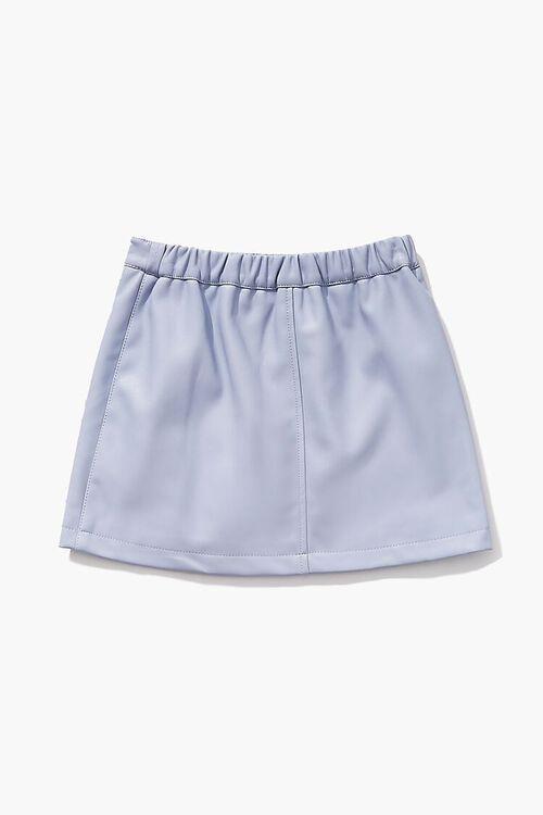 BLUE Girls Button-Front Skirt (Kids), image 2