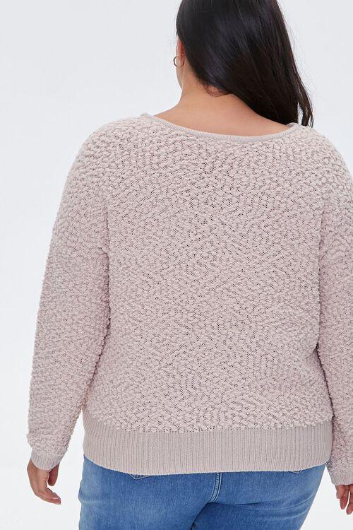 Plus Size Popcorn Knit Sweater, image 3