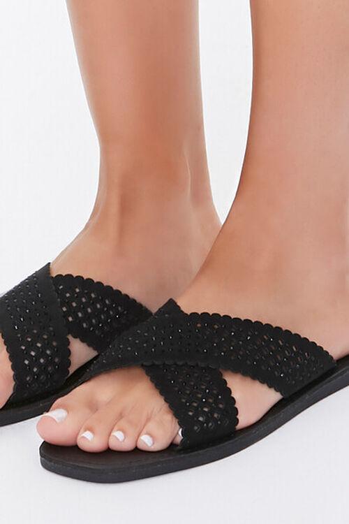 Crisscross Slip-On Flat Sandals, image 5