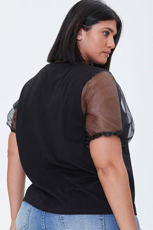 Plus Size Alphonse Mucha Puff-Sleeve Top, image 3
